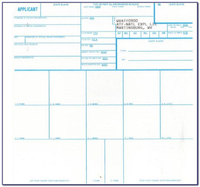 Form Fd 258 Fingerprint Card Uscis