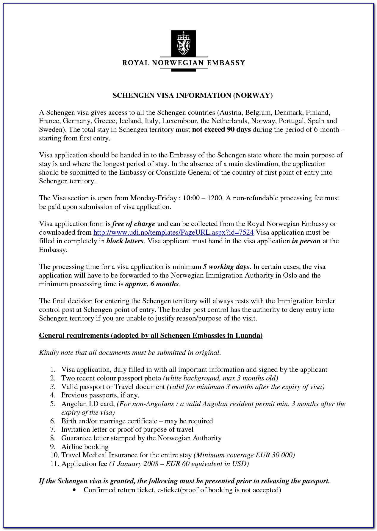 Formal Visa Invitation Letter