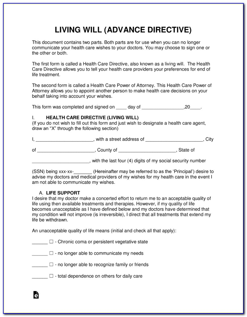 Free Advance Directive Forms California