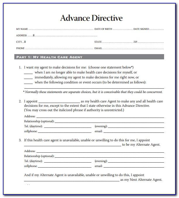 Free Advance Directive Forms Michigan