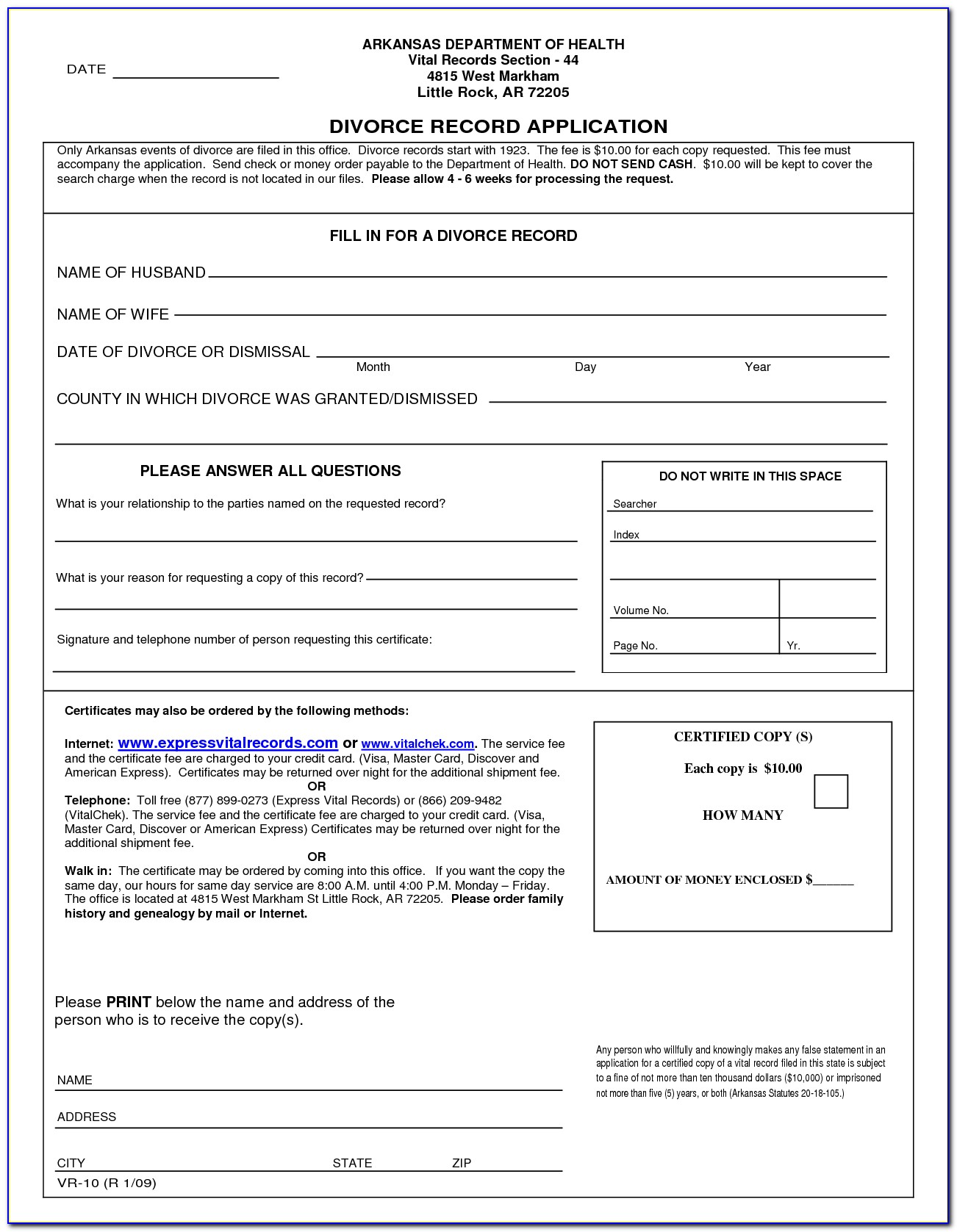 Free Arkansas Divorce Forms Uncontested