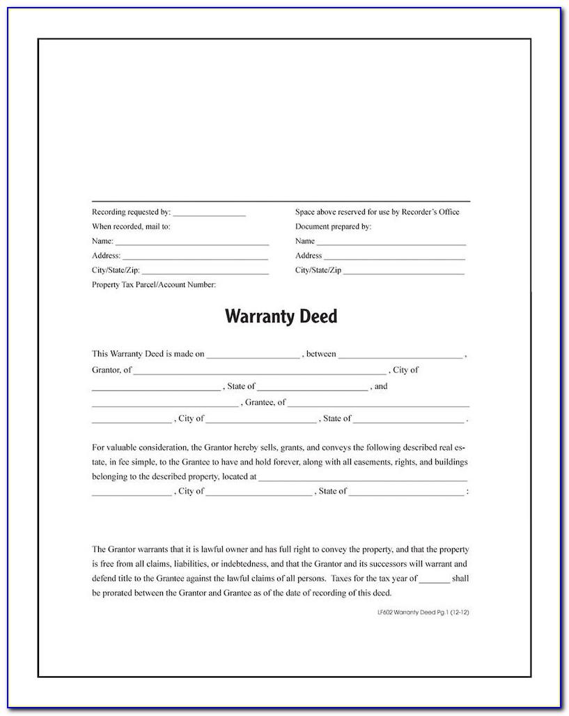 Free California Warranty Deed Form
