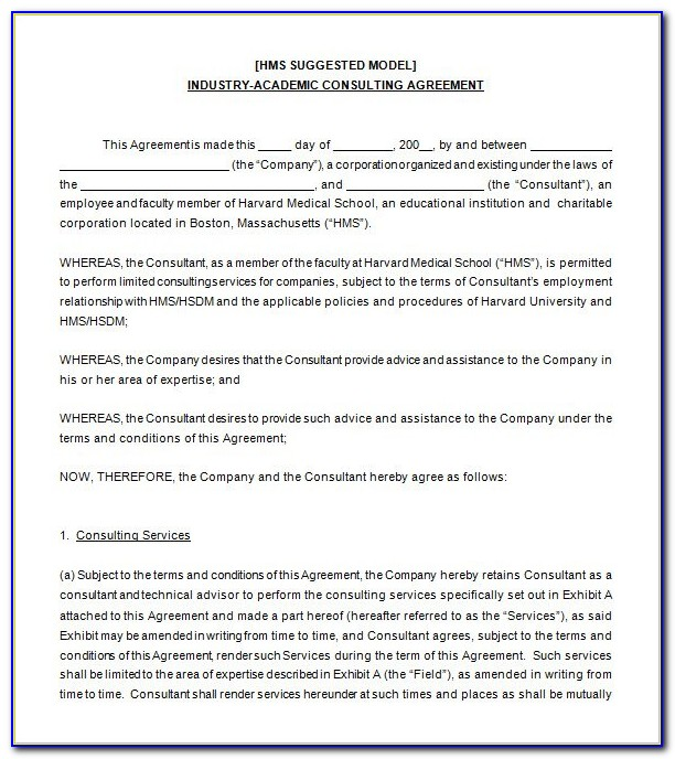 Free Consulting Agreement Form