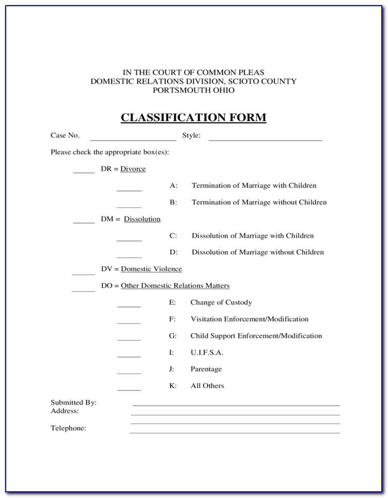 Free Divorce Forms Ohio Online