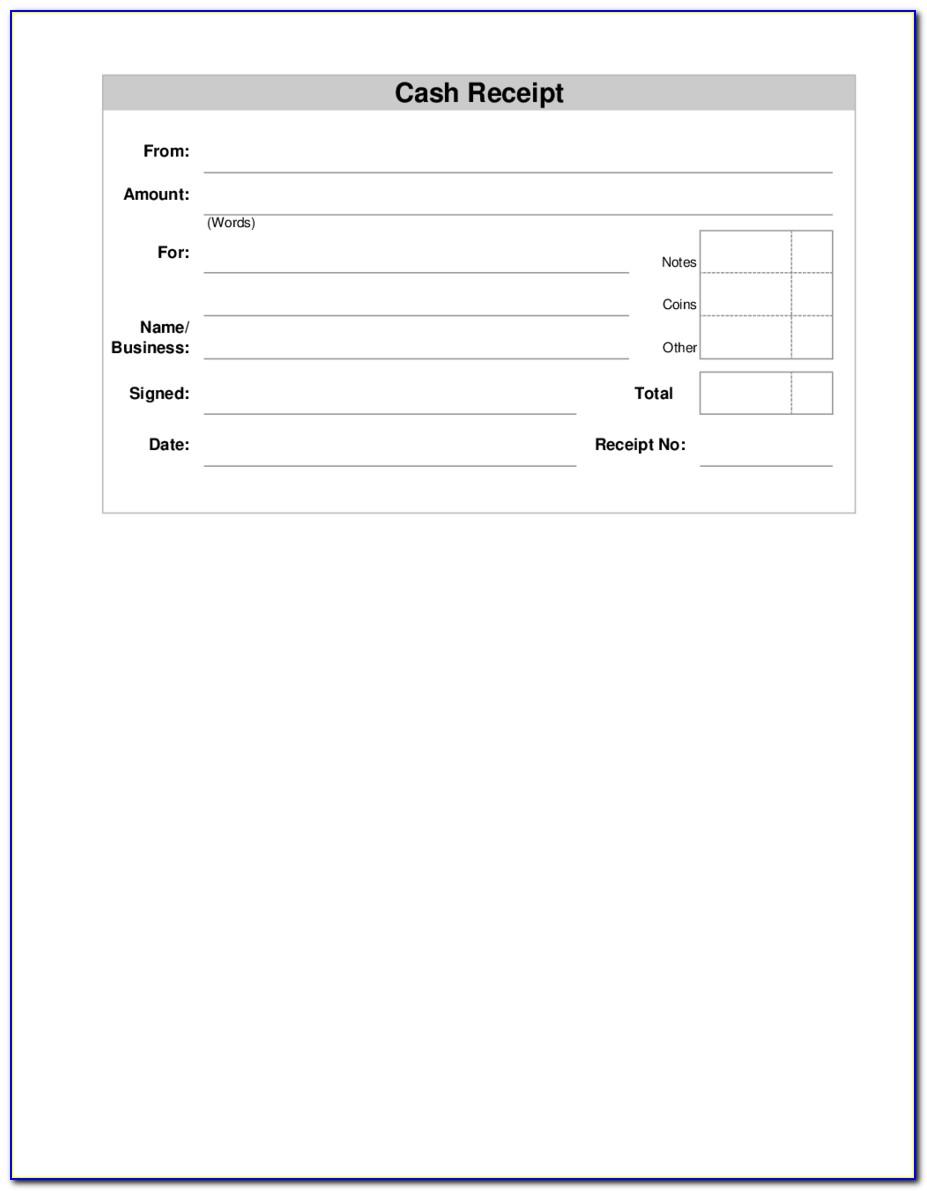 Free Download Receipt Format In Excel