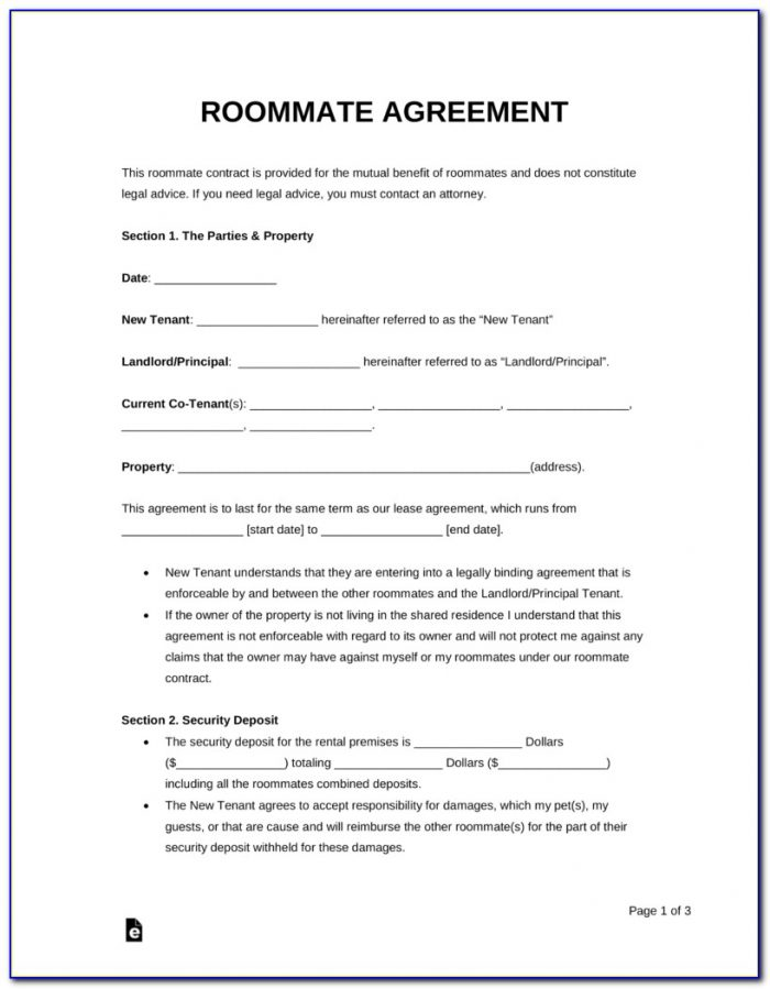 Free Download Room Rental Agreement Form
