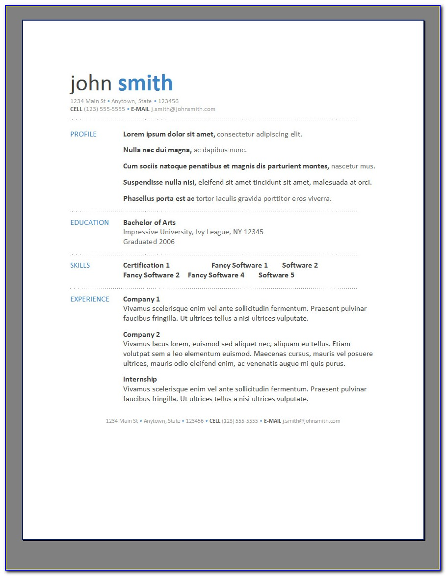 Free Downloadable Printable Resume Templates - Form : Resume ...
