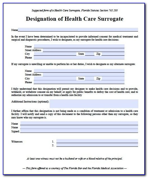 Free Durable Power Of Attorney For Health Care Form Pa
