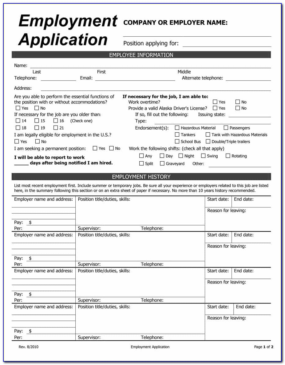 Free Employee Time Off Request Form Template