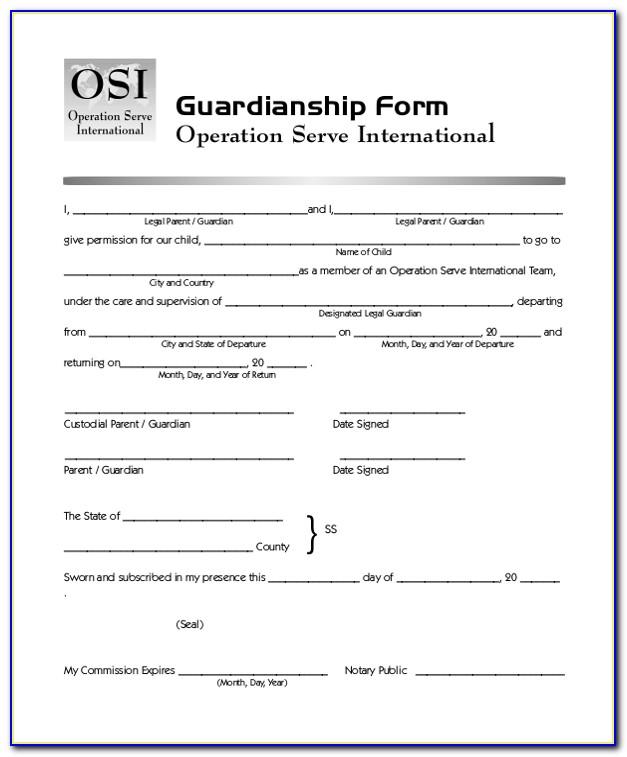 Free Guardianship Forms Oregon