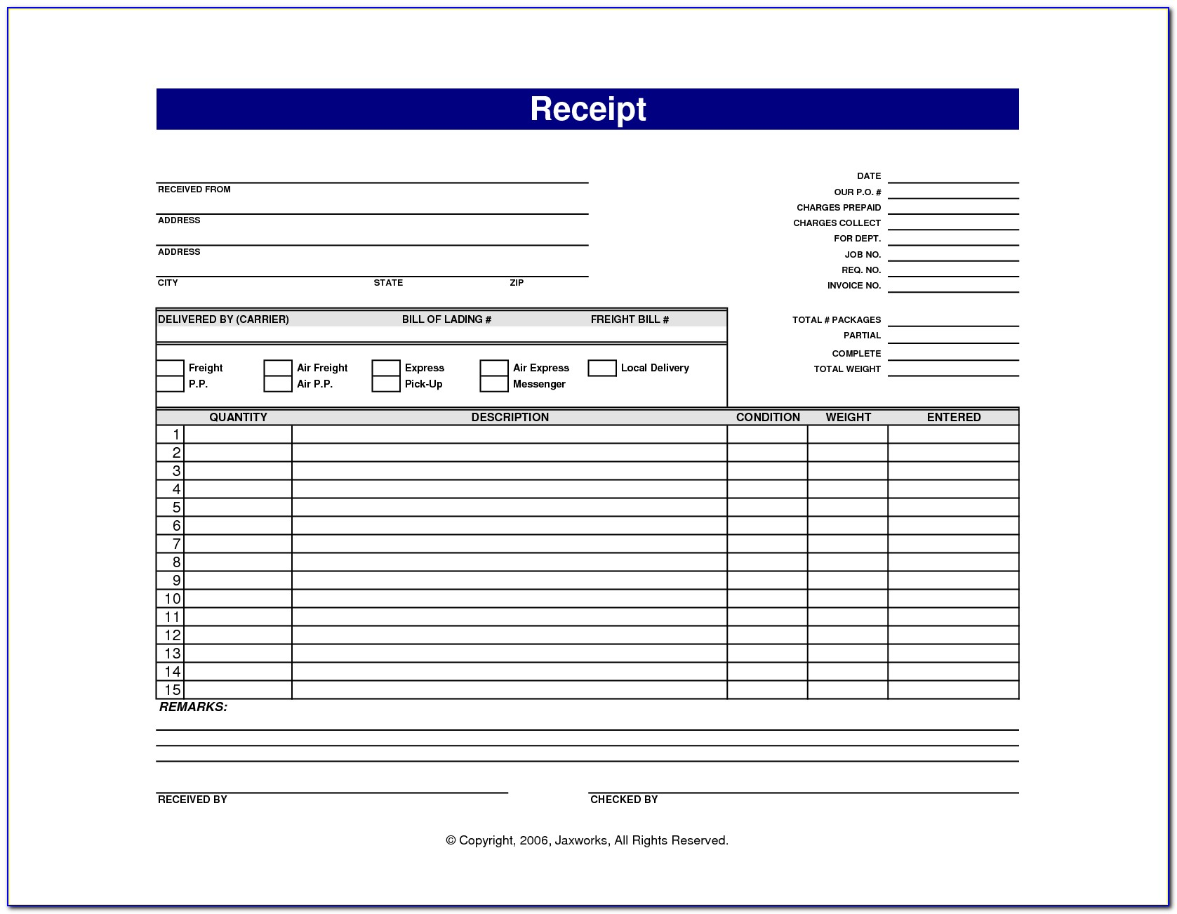 Free Invoice Forms To Print