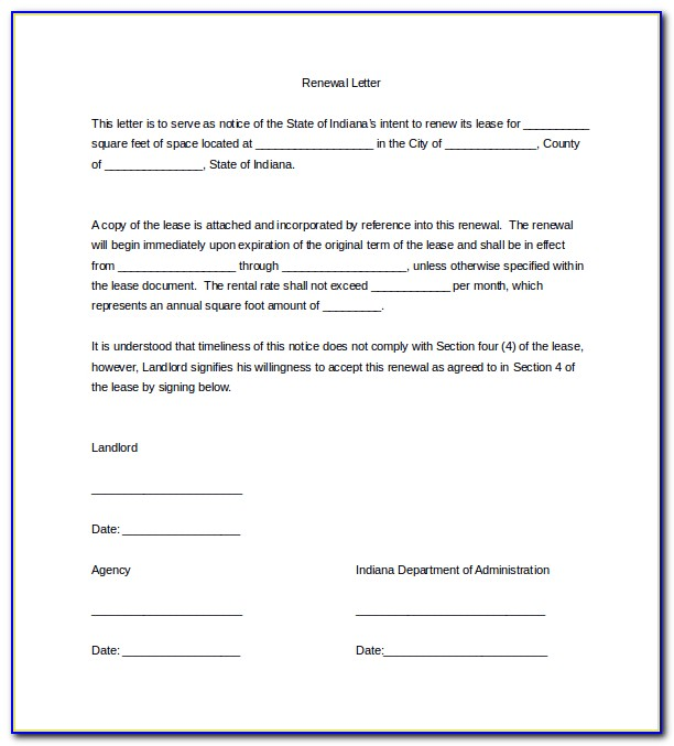 Free Lease Extension Form