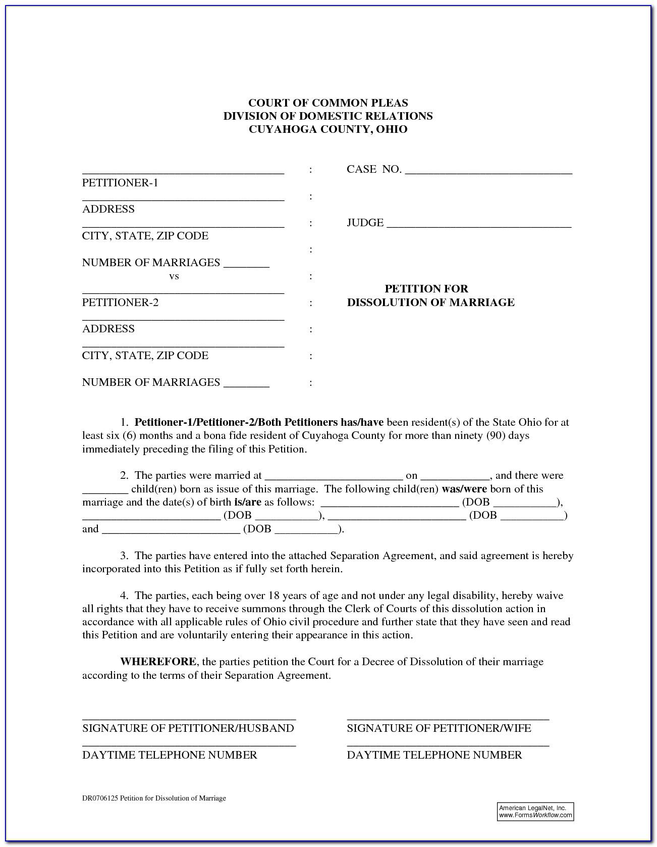 Free Online Dissolution Forms Ohio