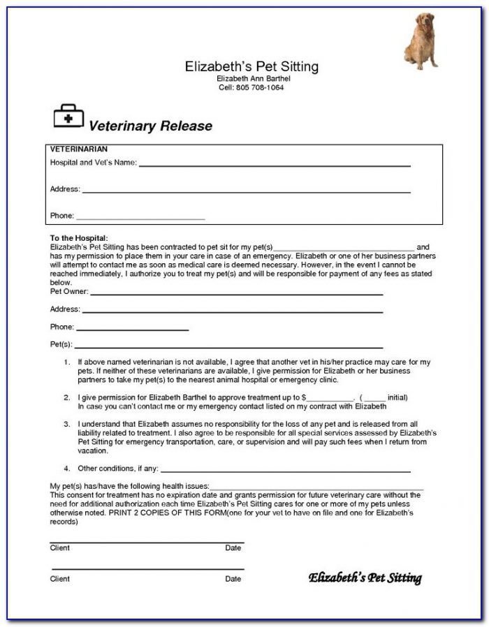Free Pet Sitting Contract Forms