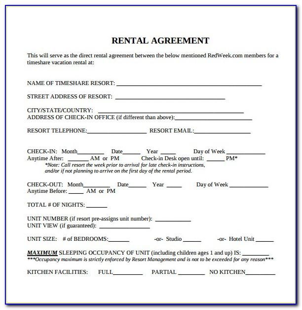 Free Printable Blank Rental Agreement Forms