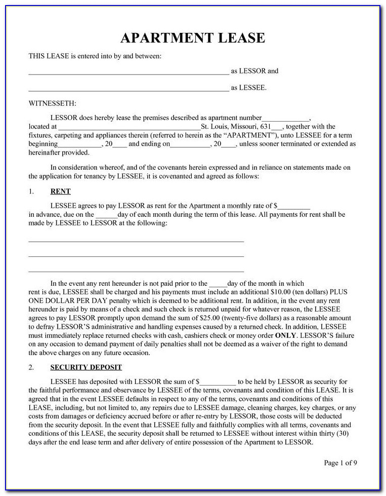 Free Printable Lease Termination Forms