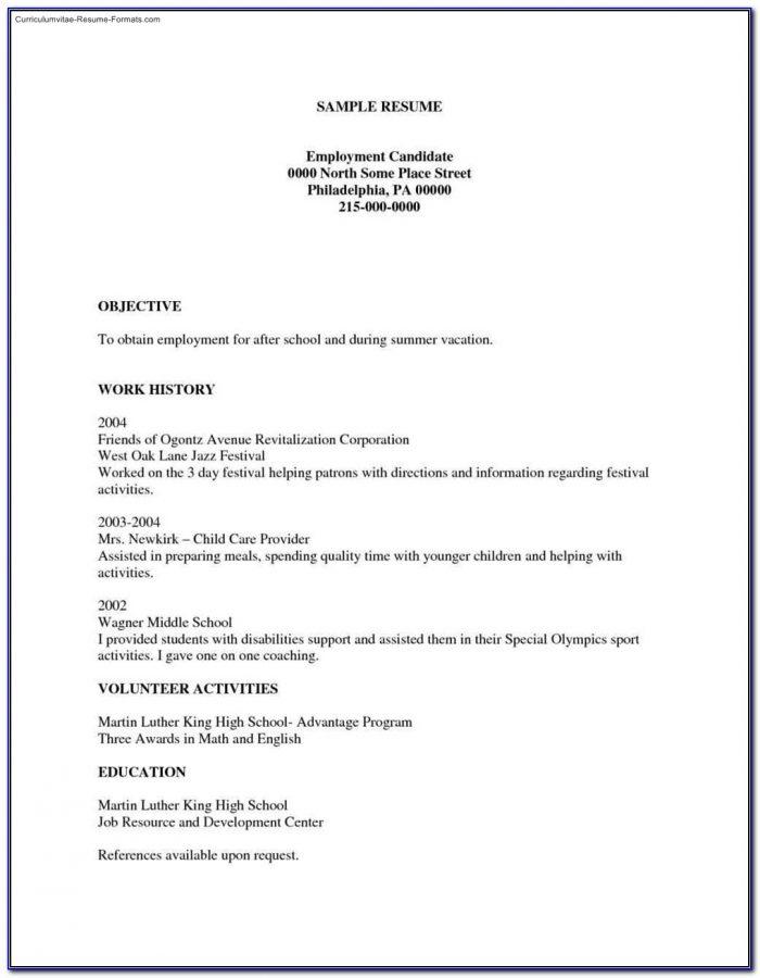 Free Printable Resumes Templates