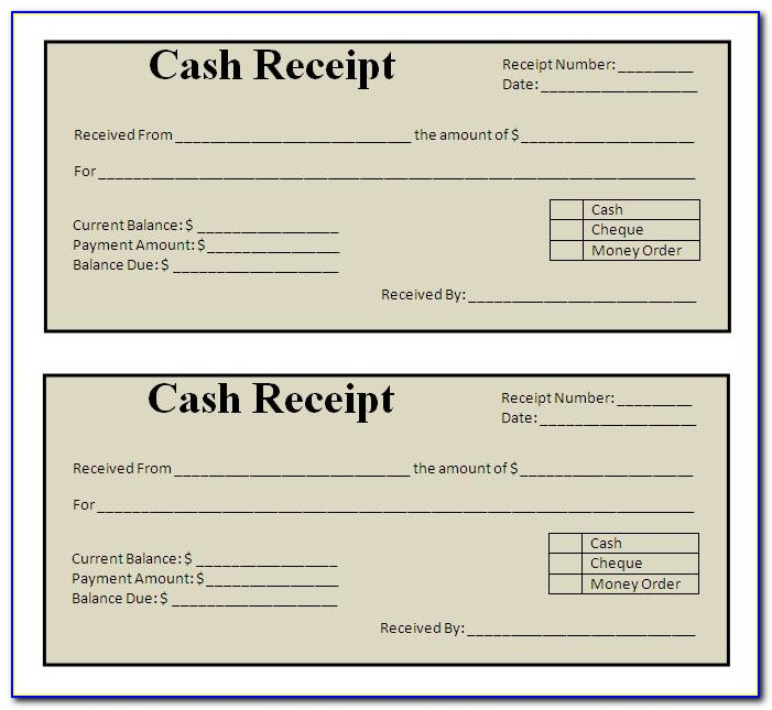 Free Receipt Format For Payment Received