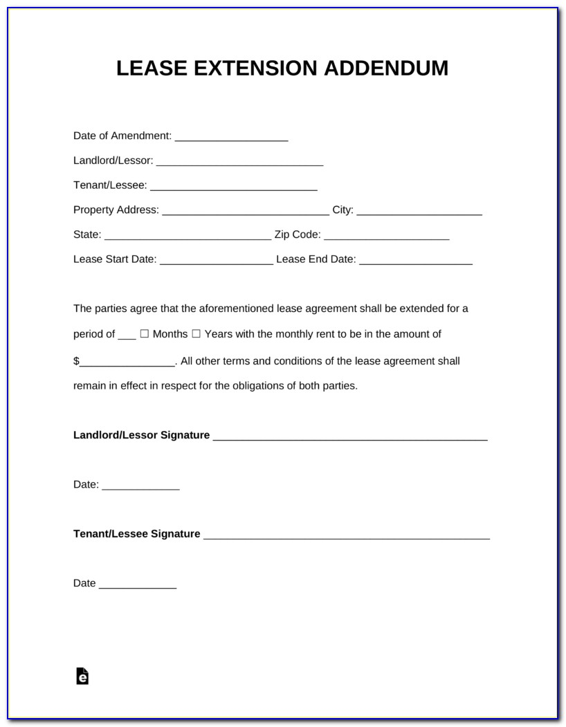 Free Renewal Lease Form Nyc