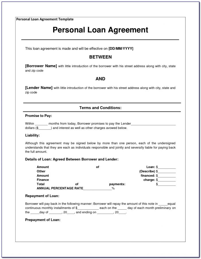 Free Simple Loan Agreement Format