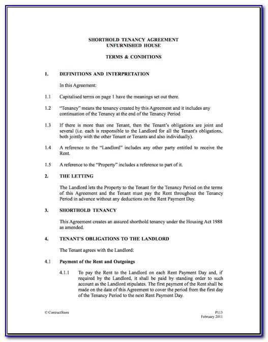 Free Tenancy Agreement Form New Zealand