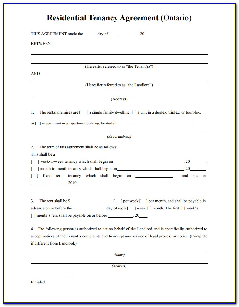 Free Tenancy Agreement Form Scotland