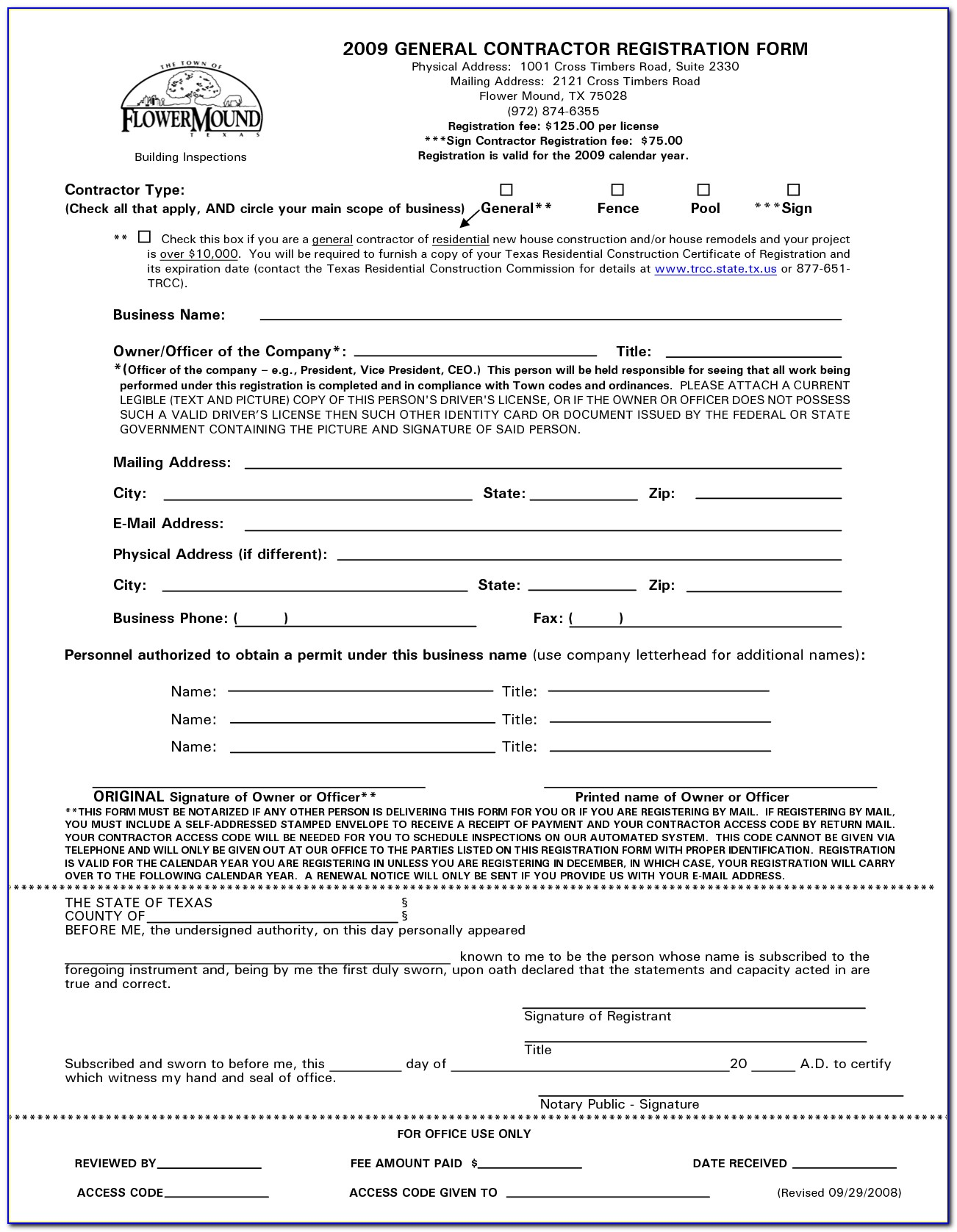 General Contractor Legal Forms