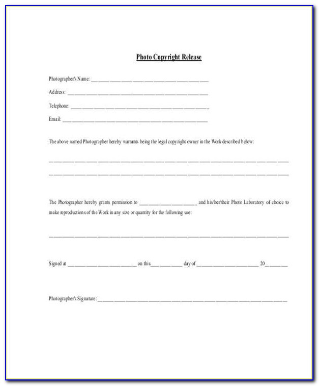 Generic Image Release Form