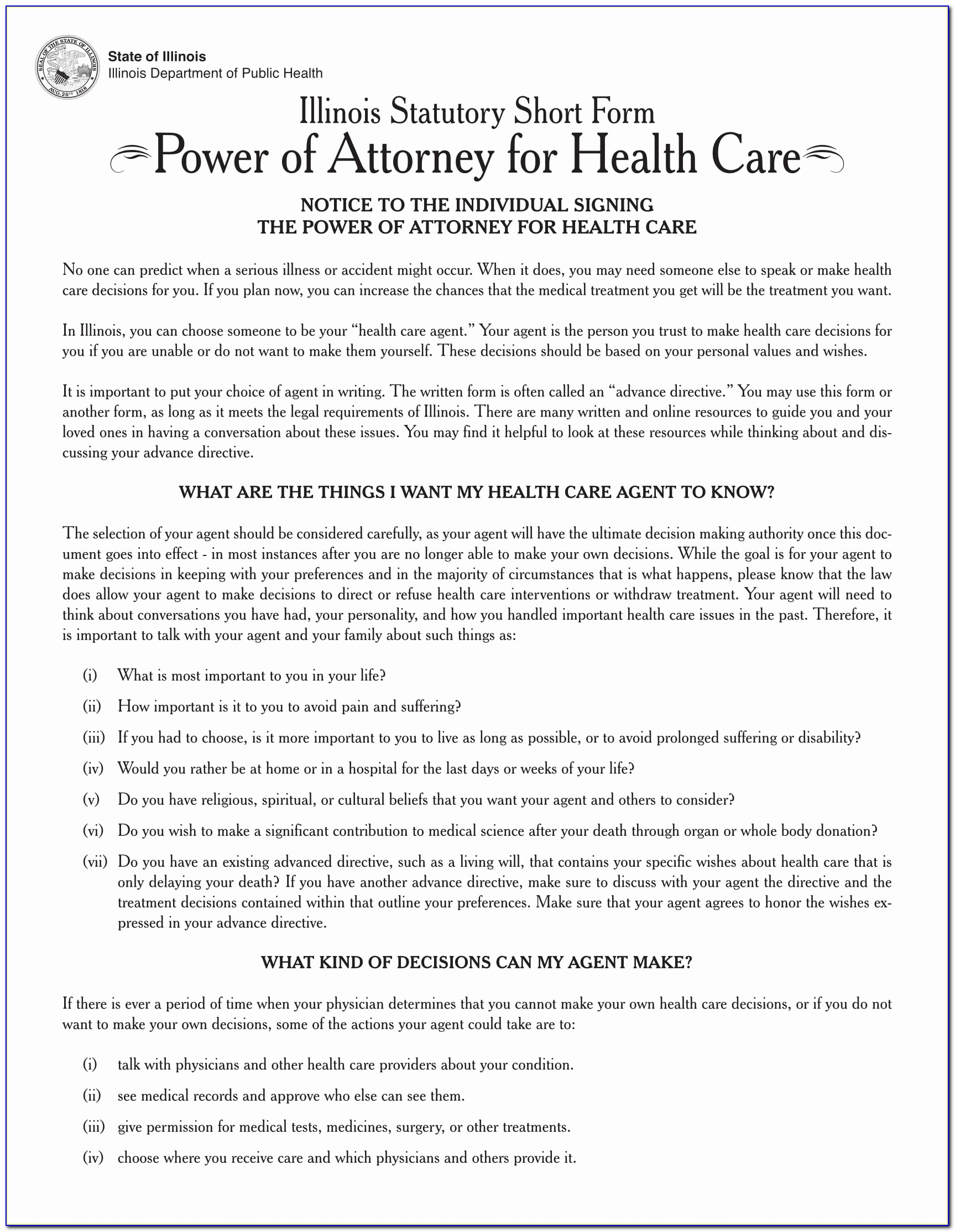 Georgia Health Care Power Of Attorney Form Elegant Ga Advance Directive For Health Care Form Fresh My Child With A