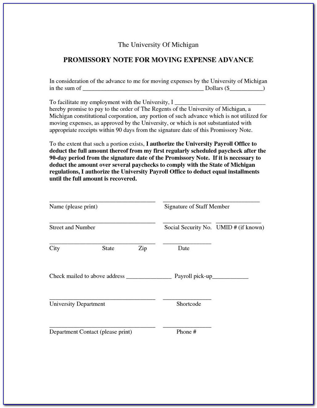 Georgia Promissory Note Form Free