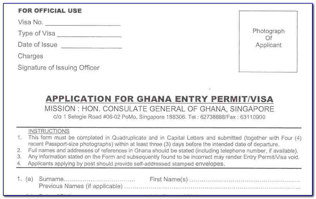 Ghana Passport Renewal Form Uk