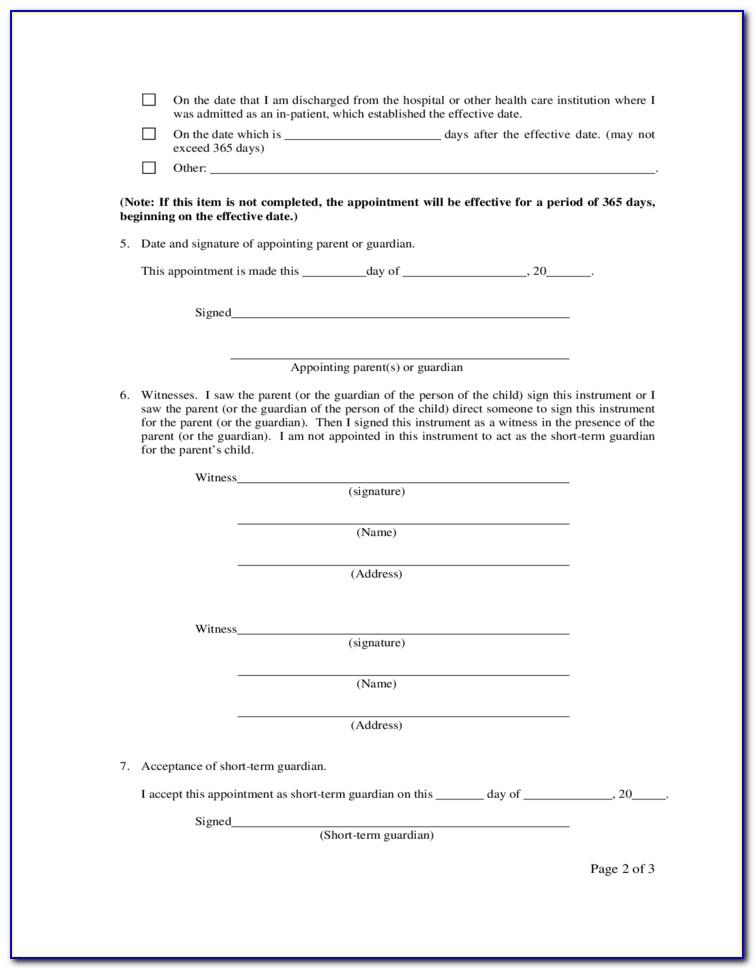 Guardianship Paperwork Illinois
