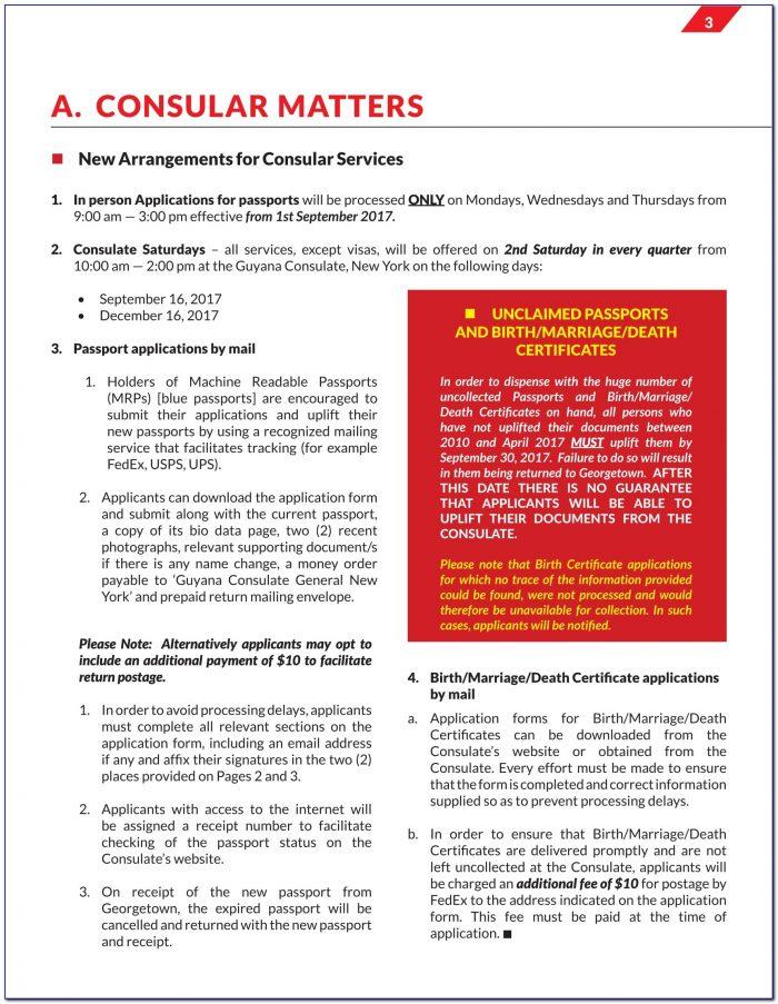 Guyana Immigration Passport Renewal Form