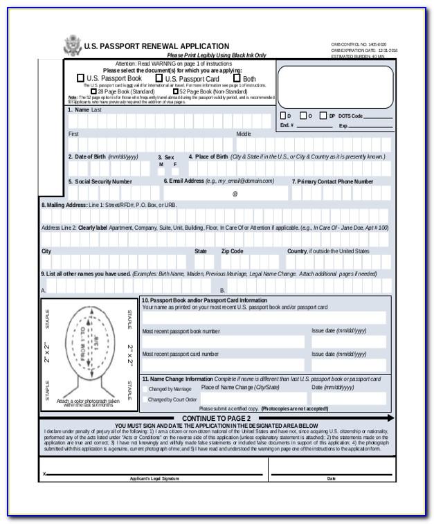 Guyana Passport Renewal Forms Online