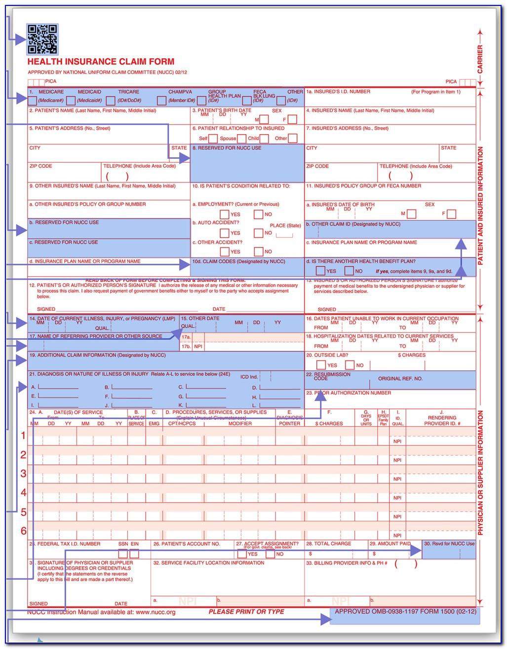 Hcfa 1500 Pdf Form