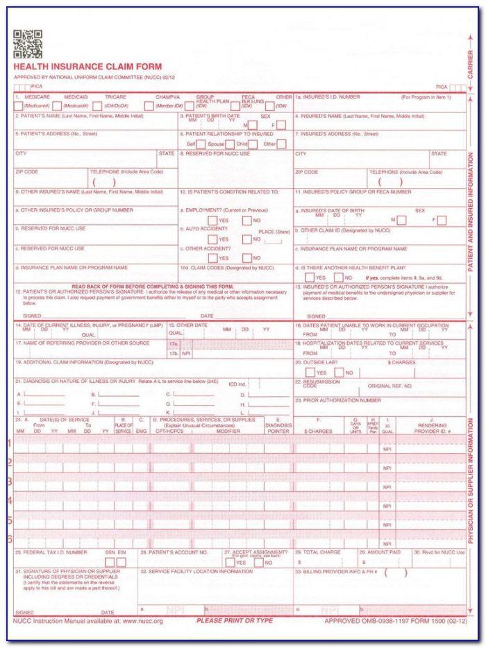 Hcfa Claim Form Pdf