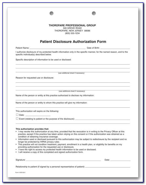 Hipaa Compliance Form For Volunteers
