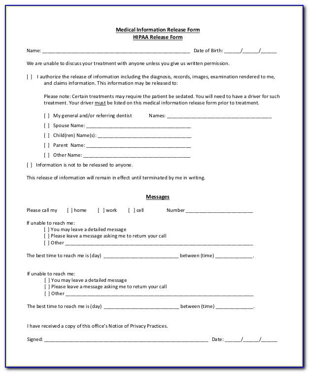 Hipaa Compliant Media Release Form
