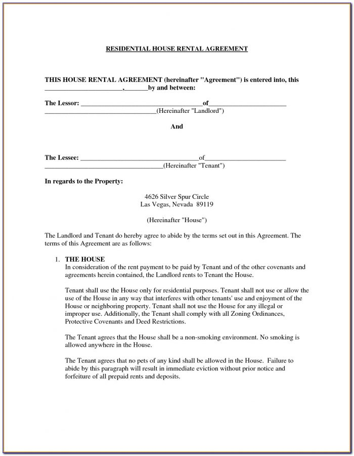 House Rental Agreement Forms Hyderabad
