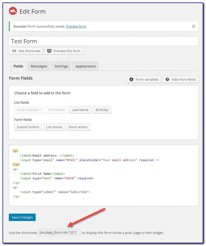 How To Create A Mailchimp Signup Form For Wordpress