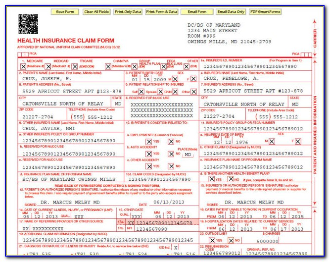 How To Fill Out A Cms 1500 Form For Medicare