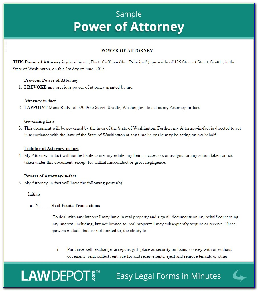 How To Obtain A Power Of Attorney Form