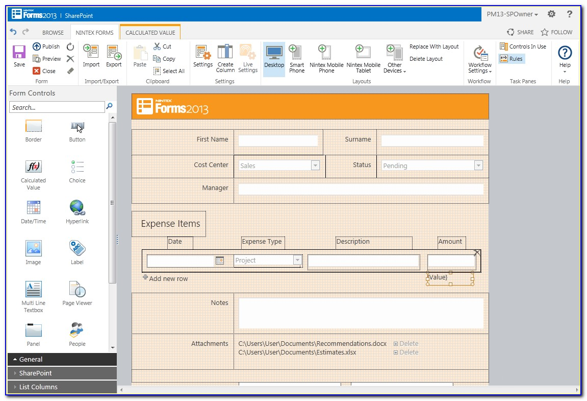How To Use Nintex Forms In Sharepoint 2013