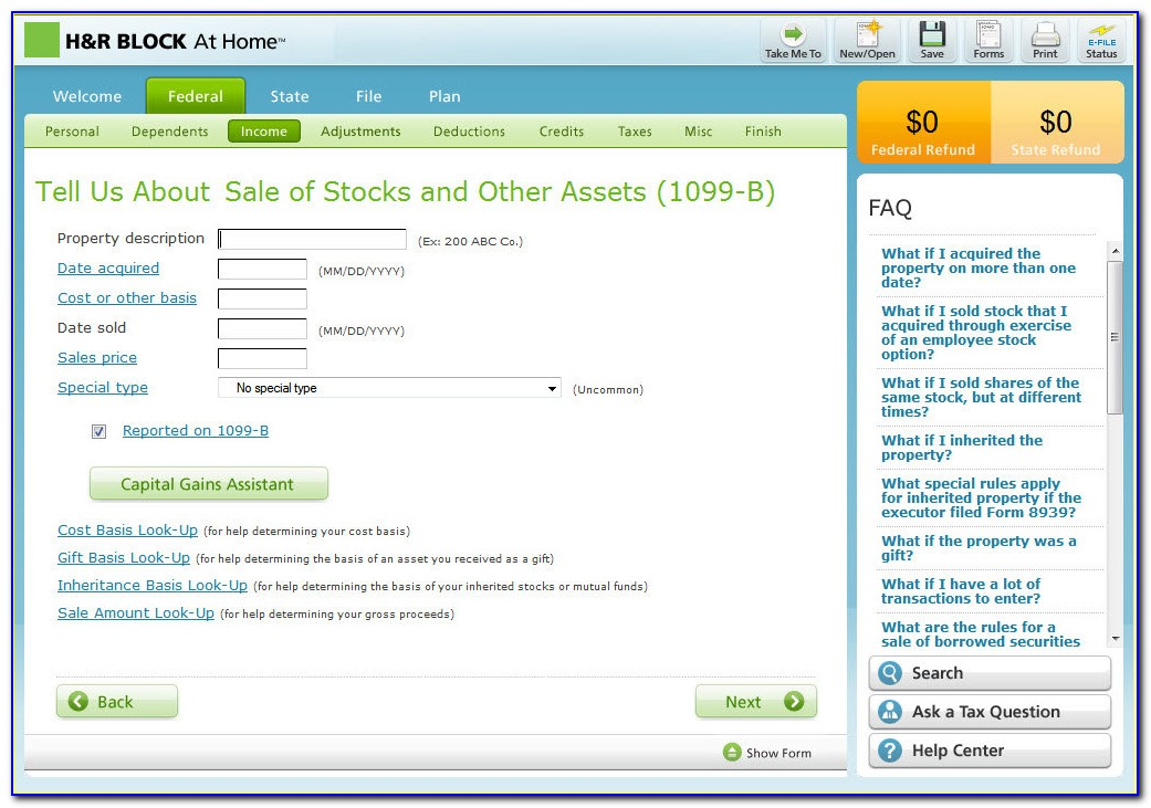 H&r Block Free Tax Forms