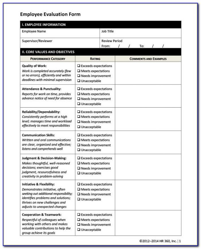 Hr Forms And Templates Uk