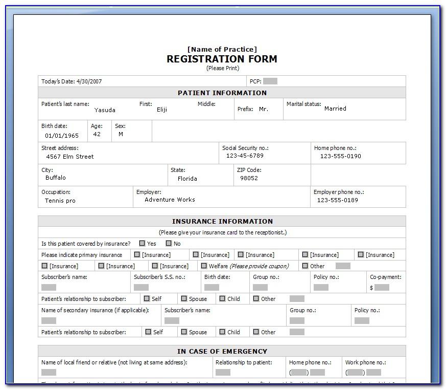 Html User Registration Form Template Free Download