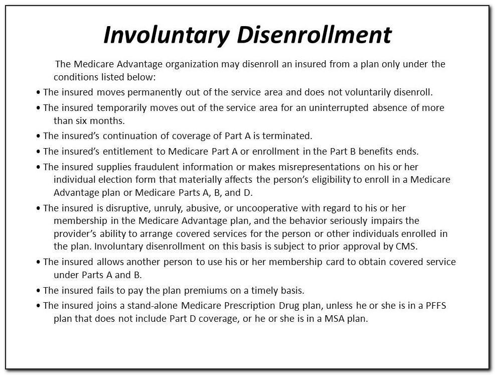 Humana Medicare Advantage Disenrollment Form