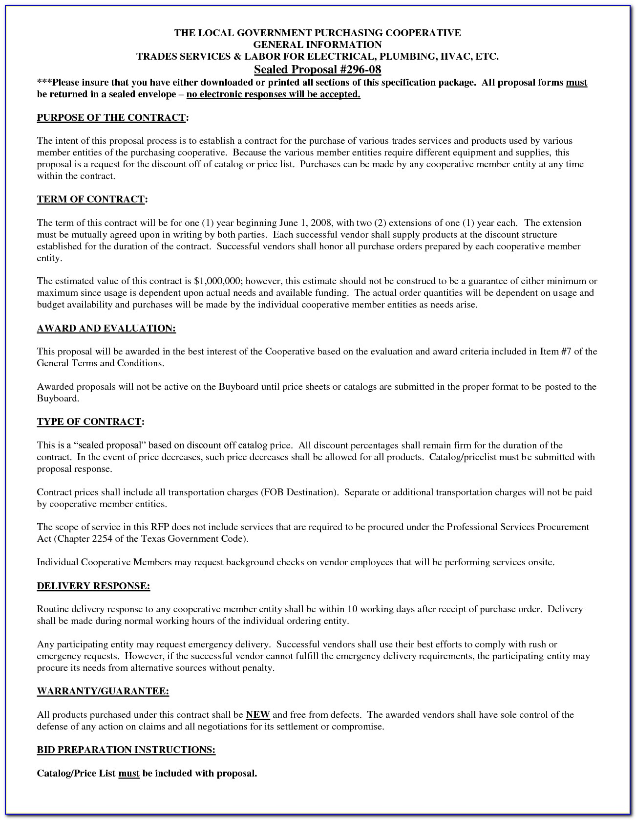Hvac Installation Contract Forms