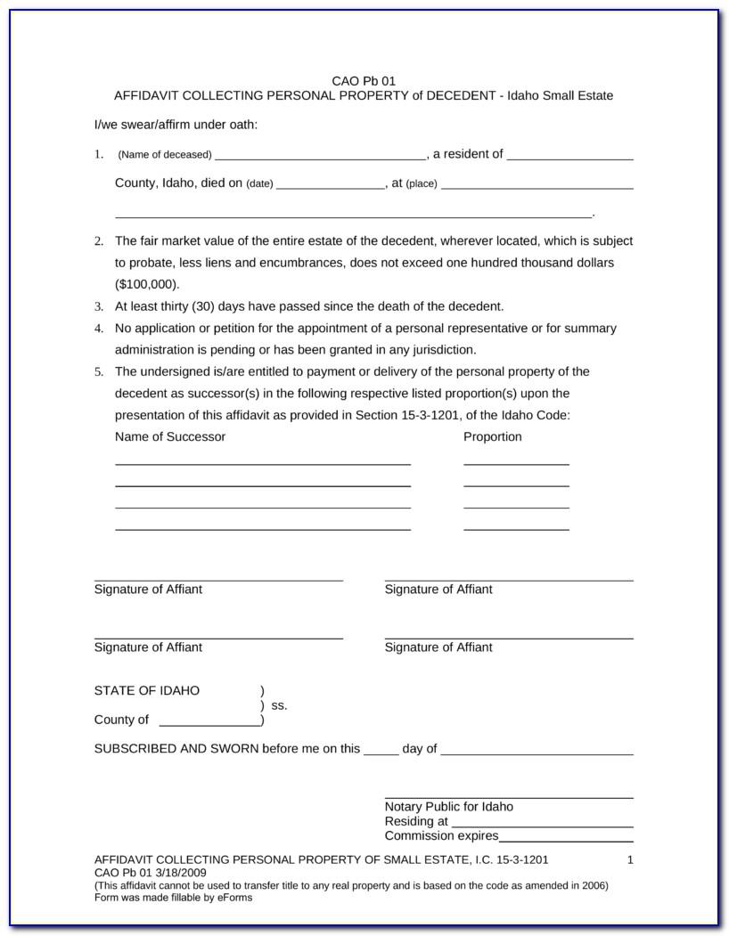 Idaho Probate Forms Free