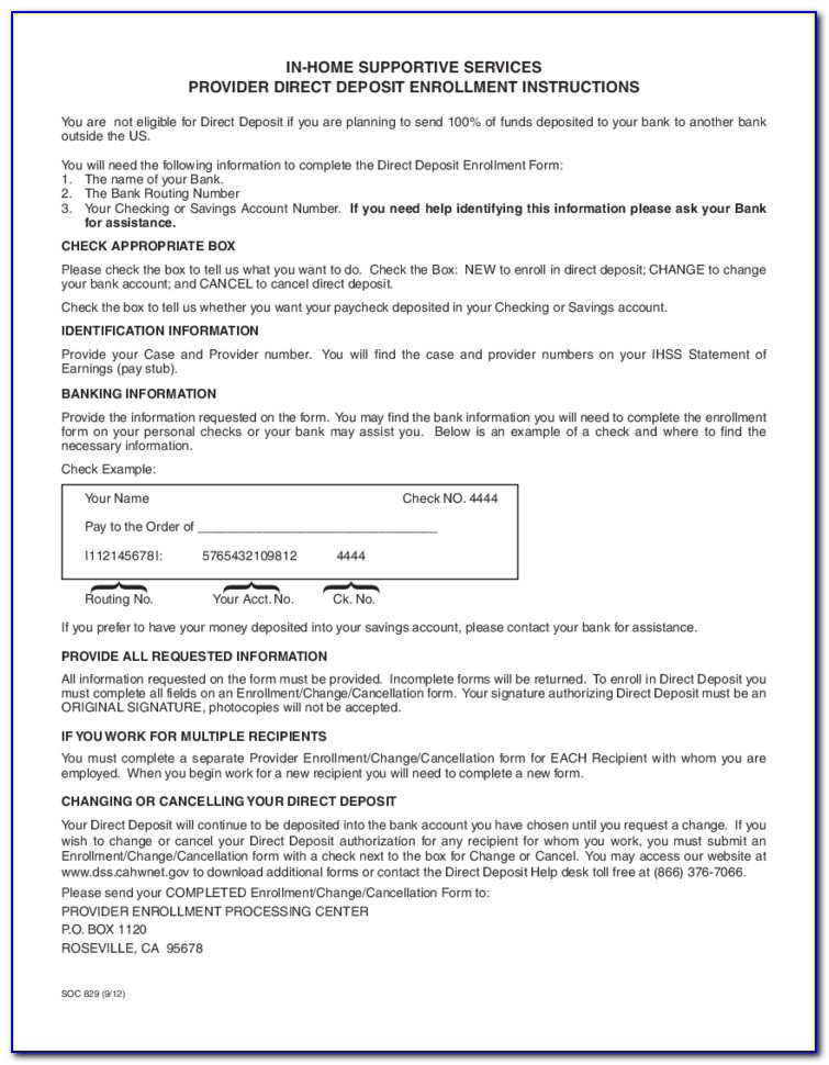 Ihss New Provider Enrollment Form
